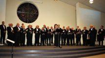 Het Hasselts Mannenkoor in november vorig jaar toen het 50-jarig bestaan werd gevierd van het koor. Foto Gerrit Slurink