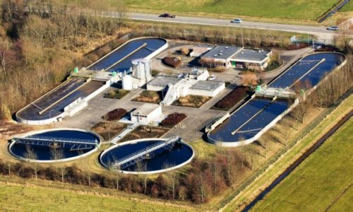 rioolwaterzuivering ligt tussen Genemuiden en Hasselt